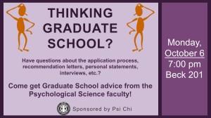 psi chi grad school panel discussion poster
